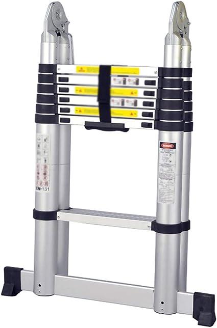 Escalera de 7 escalones para Uso doméstico, Escalera Recta telescópica de ingeniería de aleación de Aluminio de 4.4 m (Tamaño : Multifunctional 2.2+2.2m): Amazon.es: Hogar