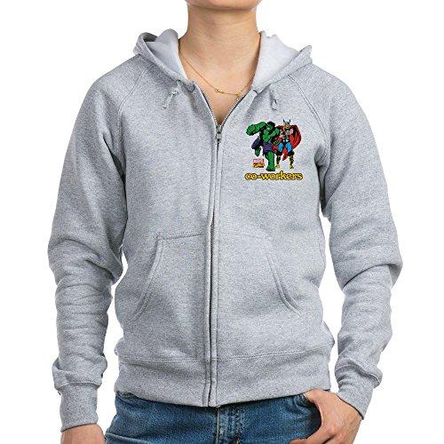 CafePress Hulk Thor Coworkers - Womens Zip Hoodie, Classic Hooded Sweatshirt With Metal (Thor Womens Hoody)