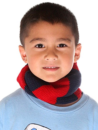 Simplicity Kid's Knitted Scarf in Infinity Fashion, Striped Pattern