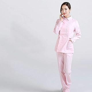 QZHE Abbigliamento medico Le Donne Infermiere Ospedaliere Servizio Medico A Maniche Lunghe Tuta di Abbigliamento Medico Cura Abbigliamento