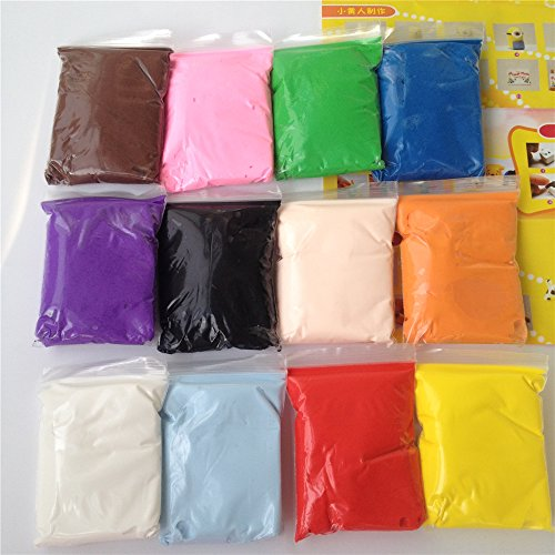 12colors Air Drying DIY Malleable Fimo Polymer Modeling Clay Soft Blocks Plasticine Kids Playdough Polymer Toys (Modeling Clay(20g/Bag)) Air Drying Polymer Clay