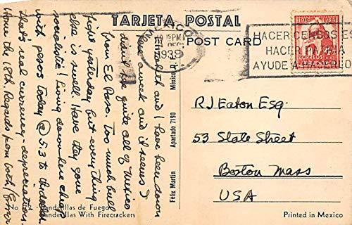 Salvador Carreho, Firecrackers Tarjeta Postal Bullfighting ...