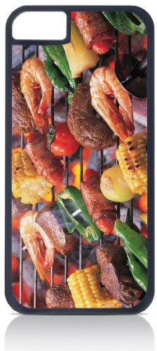 Barbeque Grill - Top View Iphone 5C Rubber DOUBLE LAYER PROTECTION black case - compatible with Iphone 5 5c