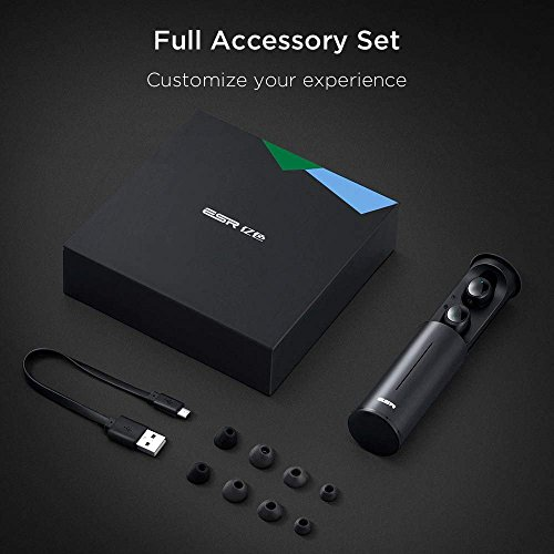 True Wireless Bluetooth Earbuds, ESR in-Ear Wireless Earphones Dynamic Graphene Drivers Portable Charging Case, Bluetooth 4.2 Earbuds iPhone, Samsung Android Phones by ESR (Image #8)