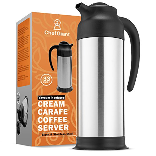 Hot Dispenser Melt (Thermal Coffee Carafe 24 OZ. 7 Liter 3 CUP Premium Small Design for Easy Handle & Travel Milk Server Stainless Steel Insulated Hot & Cold           )
