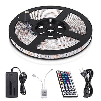 Led Light Strip Kit MECO Waterproof Strip Lights SMD 5050 Flexible Tape Lights 300 LEDs 5M/16.4ft DC 12V for Home Application Boat Decoration and Under Cabinet Lighting - Day Light