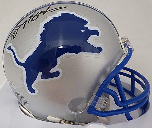 Barry Sanders Autographed Signed Detroit Lions Mini Helmet - Beckett BAS -