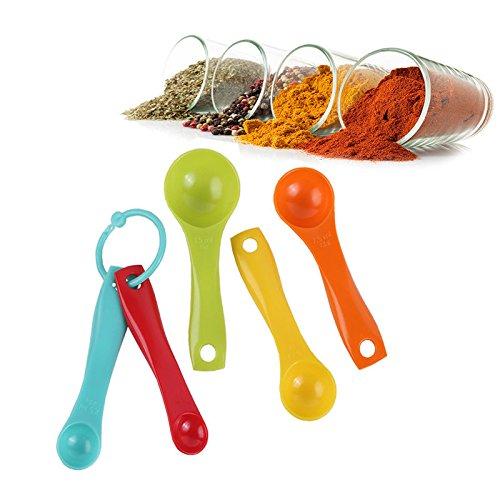 [5 PCs Measuring Spoon Colorful Set Kitchen Gadget Baking Cooking Cake Powder Tool] (Cocktail Honey Costumes)