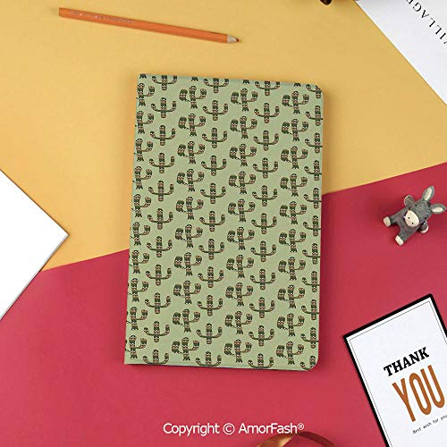 Case for Samsung Galaxy Tab S3 9.7 T820 T825 Slim Folding Stand Cover PU Case,Cactus,Mexican Inspired Indigenous Foliage Abstract Chevron Nature Theme Decorative,Green Pistachio Green Caramel