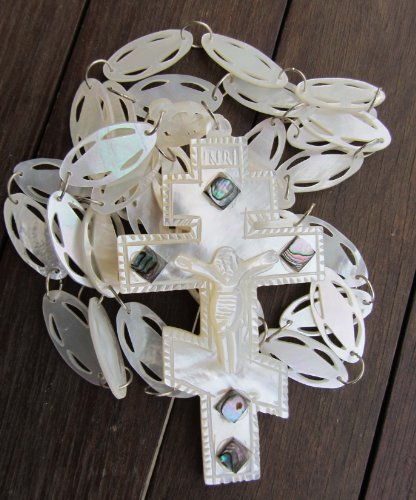 Mother of Pearl Pectoral Orthodox Priest Cross and Chain