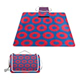 LOIGEIDQ Picnic mat Phish Circles Waterproof Outdoor Picnic Blanket, Sandproof Waterproof Picnic Blanket Tote Camping Hiking Grass Travelling DualLayers