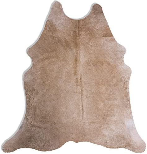 Butter Rodeo Cow Hide Beige Cow Skin Large Size Cowhide Rug 7×6