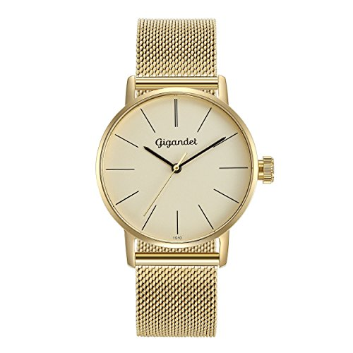 Gigandet Women's Quartz Watch Minimalism Analog Stainless Steel Bracelet Gold G43-021