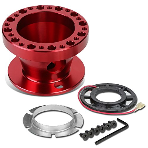 Aluminum Steering Wheel 6-Hole Hub Adaptor Kit (Red) For Miata / RX7 / RX8 / Protege - Shift Adapter Short