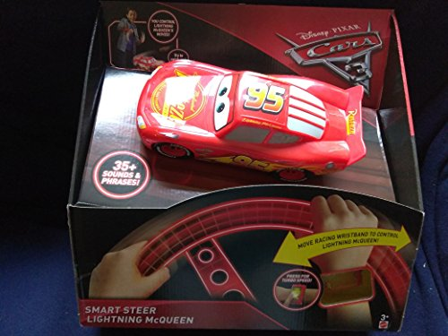 Wristbands Cars (Mattel Disney Pixar Cars 3 Smart Steer Lightning McQueen 35+ Sounds & Phrases You Control Lightning McQueen's Moves With Wristband Moves In Many Directions And Turbo Speed New In Unopened Box)