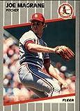 1989 Fleer #455 Joe Magrane UER Des Moines& IO Card