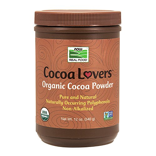 NOW Foods Organic Cocoa Powder, Unsweetened-12 ()