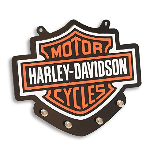Porta-Chaves Logo Harley Davidson 4 Chaves em MDF - 22x20 cm