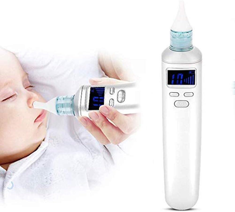 Aspirador nasal eléctrico recién nacido, con 3 niveles de succión, puntas de silicona portátil aspirador nasal apto para bebés y niños pequeños: Amazon.es: Salud y cuidado personal