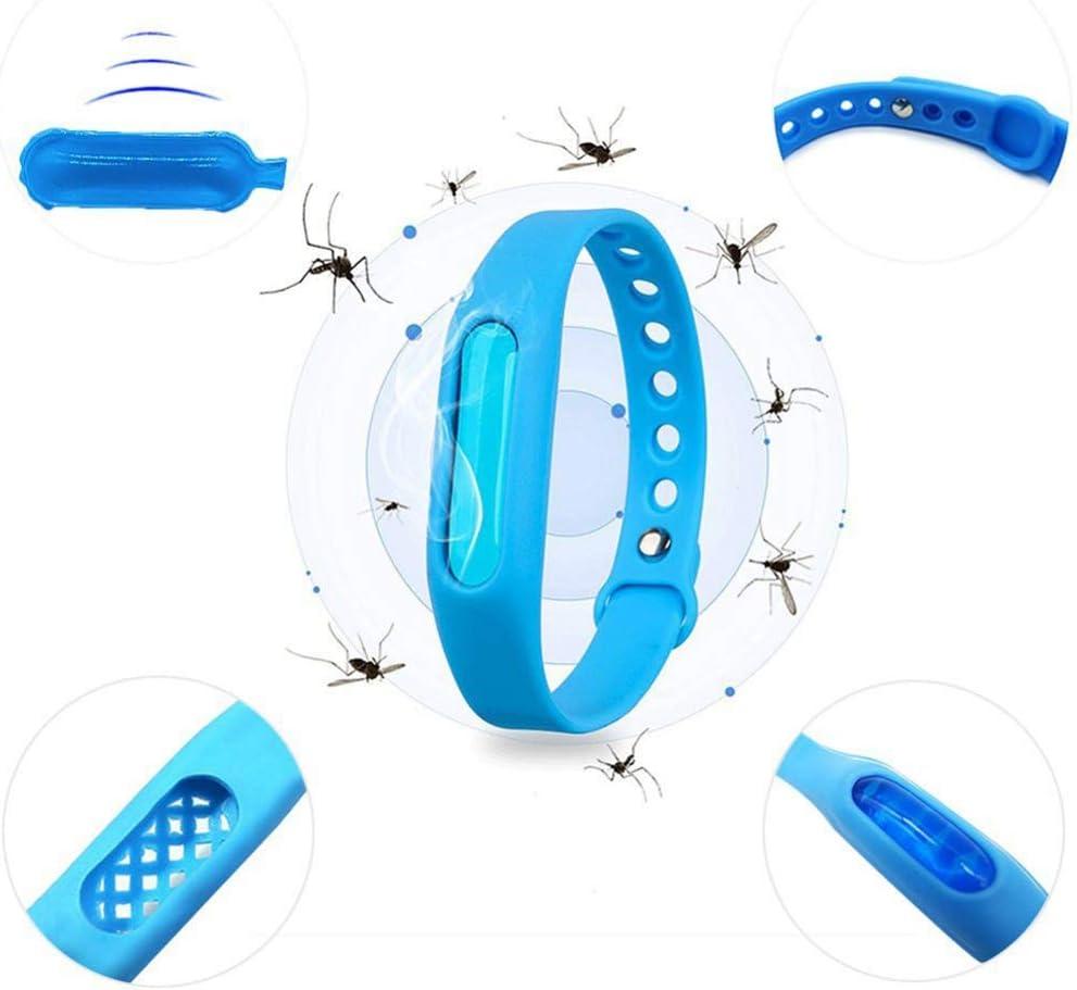 Surenhap 6 St/ück M/ückenschutz Armb/änder Silikon Anti M/ücken Armband Insektenschutz Handgelenkb/änder f/ür Erwachsene und Kinder Zuf/ällige Farbe