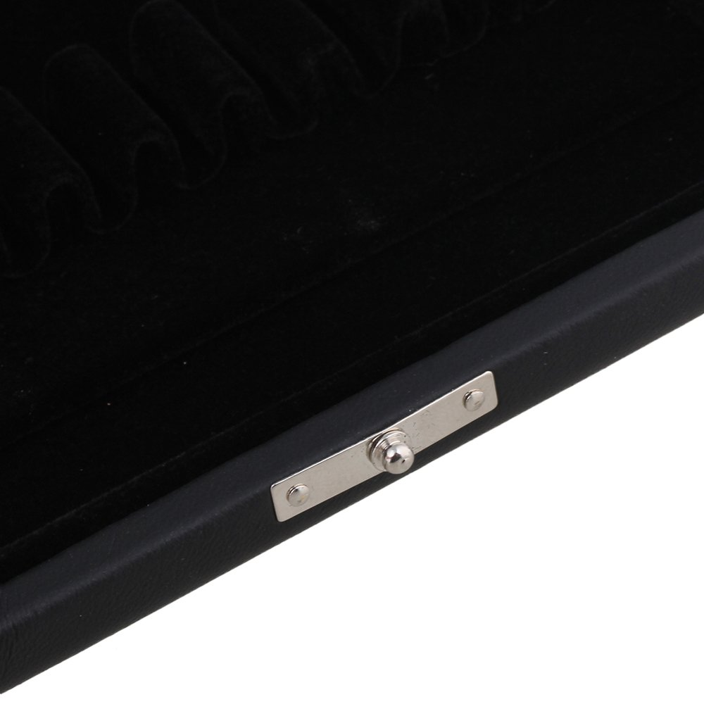 BQLZR Black PU Leather Oboe Reed Box Reed Case with Flannel Slot Inside for 10pcs Oboe Reeds by BQLZR (Image #5)