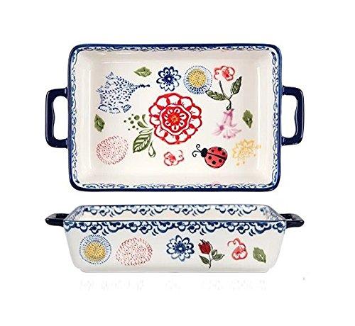 Astra Gourmet Vintage Style Ceramic Rectangular Baking Dish/Roasting Pan/Lasagna Pan(7.5