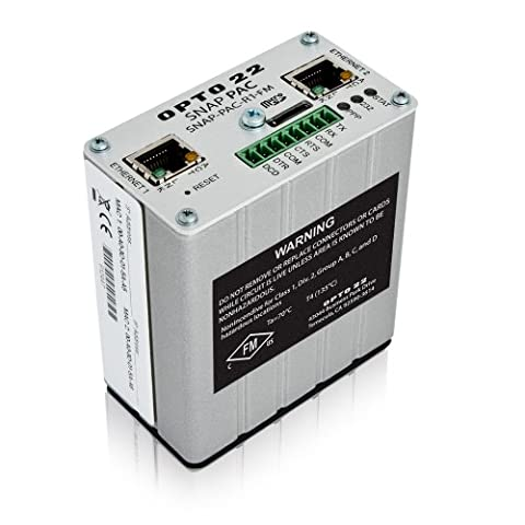 Opto 22 SNAP-PAC-R1-FM - SNAP PAC R-series Rack-mounted Programmable Automation Controller, Analog/Digital/Serial I/O Processing, Factory Mutual - Opto 22 Software