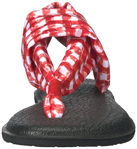 Women's Yoga Flop Sling Red Gingham Sanuk 2 White Flip Fqdx6nwU