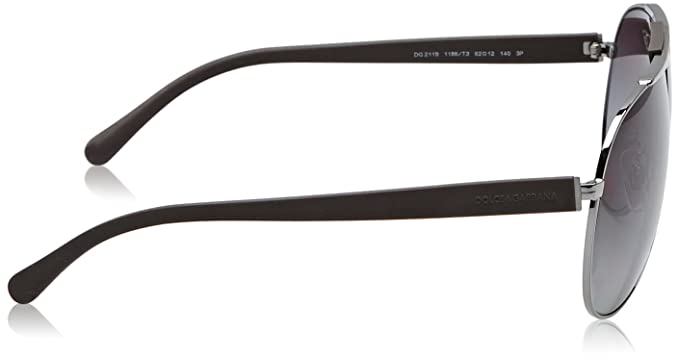 D&G Dolce and Gabbana 0DG2119 Aviator Sunglasses,62 mm