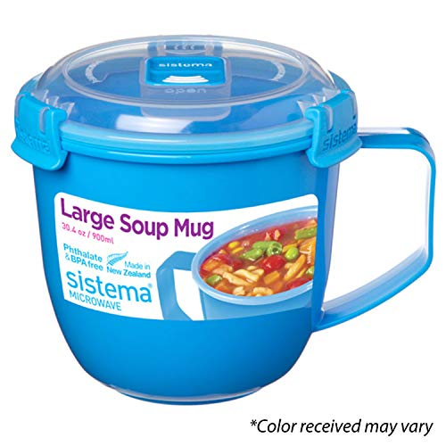 Sistema Microwave Collection Noodle Bowl 31.7oz, Red 1109ZS, 4 Cup,