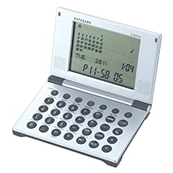 Natico Multifunctional World time Clock, Calendar, Calculator with Data Bank (10-WT263)