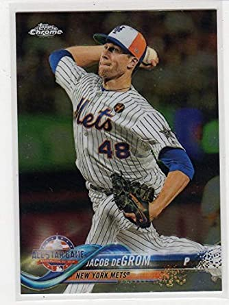 b34738f6acca 2018 Topps Chrome Update Jacob DeGrom Exclusive Baseball Card-2018 CY  Young-New York