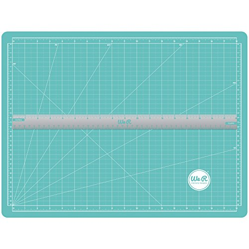 Mats Magnetic - We R Memory Keepers Scalloped Magnetic Ruler Cutting Mat, Blue
