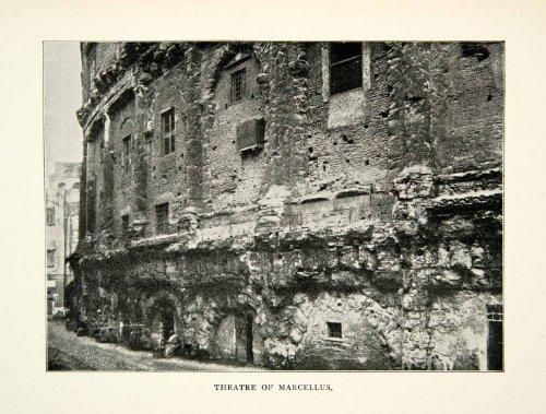 1902-print-rome-edifice-medieval-rione-edifice-theatre-marcellus-sant-angelo-original-halftone-print
