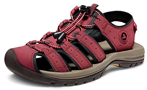 (ATIKA Men's Sport Sandals Trail Outdoor Water Shoes, Outdoor Cairo(m130) - Red,)