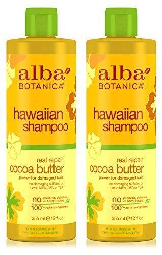 Hawaiian Shampoo Real Repair Cocoa Butter (Pack of 2) With Cocoa, Aloe Vera, Pineapple, Calendula, Papaya, Matricaria, Quinoa, Coconut, Ginger, and Pyrifera, 12 oz. ()