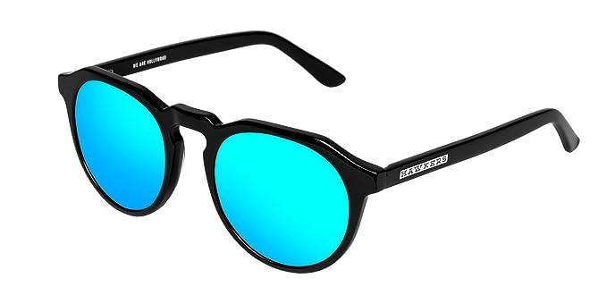 Hawkers Unisex-Erwachsene Sonnenbrille WX01, Schwarz (Negro/Azul Claro), 60