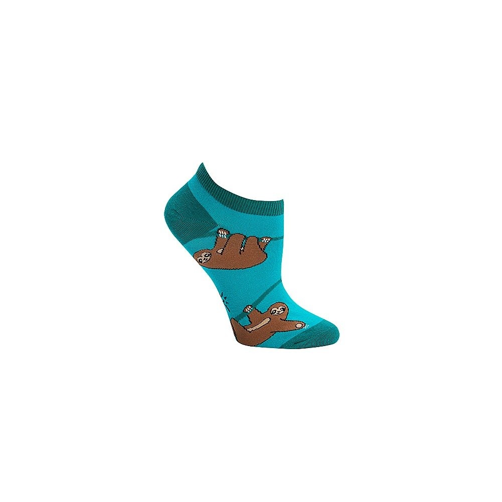 Sock It To Me Sloth Ankle Socks, One size - Green