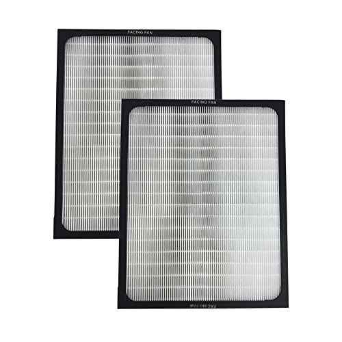 Think Crucial 2 Replacements for Blueair Deluxe 200/300 Series Air Purifier Filter W/Built-In Odor Neutralizing Particle Pre-Filter, Fits ALL 200 & 300 Series Air Purifiers
