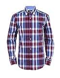 Chaps Little Boys' Long Sleeve Woven Shirt with Stretch, Jordan Burgundy, 5