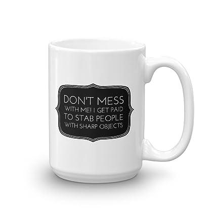 Amazoncom Nurse Mug Funny Ceramic Mug With Handle Coffee Mug