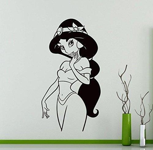 Jasmin Wall Decal Aladdin Sticker Home Decoration Any Room Waterproof Sticker (82su) (Aladdin Jasmin)