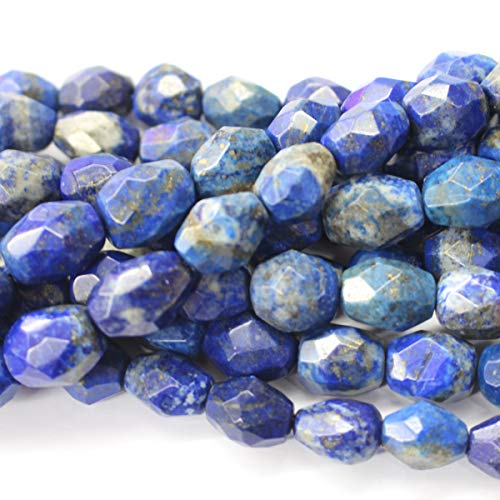 Lapis Barrel - Icokarl Faceted Genuine Lapis Lazuli Barrel 12x16mm Natural Gemstone Loose Beads Approxi 15.5 inch DIY Bracelet Necklace for Jewelry Making