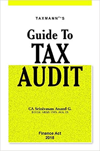 Guide to Tax Audit (Finance Act 2018)