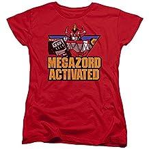 Mighty Morphin Power Rangers Megazord Activated Womens Short Sleeve Shirt