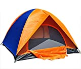 CNlinkco 2 Person Sports Outdoors Tent (Orange + Blue) For Sale