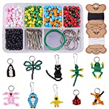 SUNNYCLUE 1 Box 1000+ pcs Bead Pets Kit for Kids Toy Arts and Crafts for Kids Include Keychain & Lanyard - Makes 10 Bead Pets