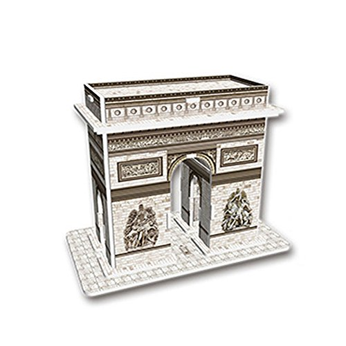 HQGOODS 3D DIY Paper Assembling Jigsaw Puzzles Model Toy and Hobby For Kids Adult - 13 Piece (triumphal Arch)