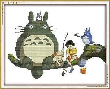 Happy Forever juego de punto de cruz, carcasa, Mi Vecino Totoro 1: Amazon.es: Juguetes y juegos