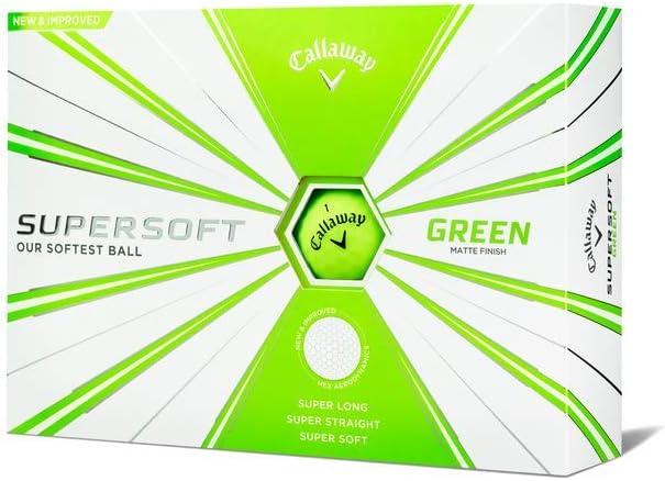 Pelotas de golf Callaway Golf Supersoft matte green